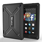 Fire HD 7 (2014 Model) Case – Poetic Fire HD 7 Case [Revolution Series] – [Heavy Duty] [Dual Layer] [Screen Shield] Protective Hybrid Case with Built-In Screen Protector for Amazon Fire HD 7 (2014 Model) 4th Gen Only – Black , Will Not Fit Fire 7″ Display 5th Generation (2015 release) (3 Year Manufacturer Warranty From Poetic)