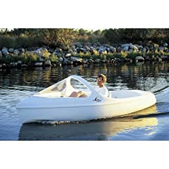 Escapade Pedal Boat with Arch and High Windshield Seat Color: Turquoise by Nauticraft