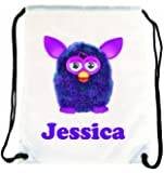 Purple Furby Personalised Gym/Sports/PE/Dance/School/Nursery Bag