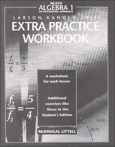 McDougal Littell High School Math: Extra Practice Workbook Algebra 1