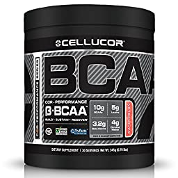 Cellucor BCAA Powder, Branch Chain Amino Acids Supplement with Beta Alanine & Citrulline Malate, 30 Servings, Watermelon