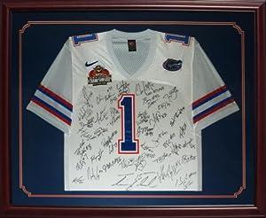 2006 Florida Gators National Championship Team and Urban Meyer Autographed (White #1)... by PalmBeachAutographs.com