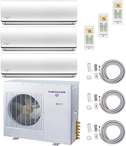 Find Discount Thermocore Systems Tri-Zone ENERGY STAR Ductless Mini Split Heat Pump Air Conditioner ...