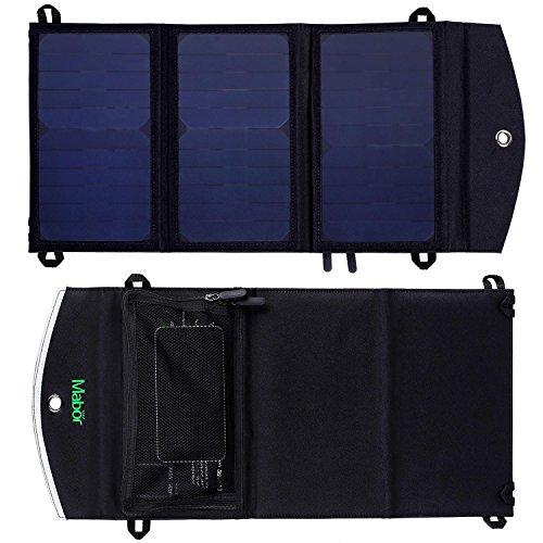 Mabor ソーラー充電 ソーラーチャージャー 折りたたみ式 2ポーチ Apple & Androidに対応