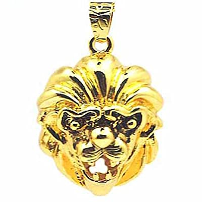 Gold Lion Head 8GB Fashion design USB 2.0 Flash Memory Pen Drive Pendant for Necklace from pengyuan