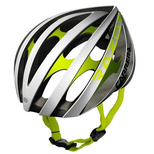 carrera-casco-da-bicicletta-colore-nero-opaco-blanco-y-verde-lima