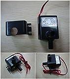 小型 水中 ポンプ 水槽 循環 DC 12V 流量 4Lmin 揚程 3m ホース クリップ エアチューブ 付き コネクタ型