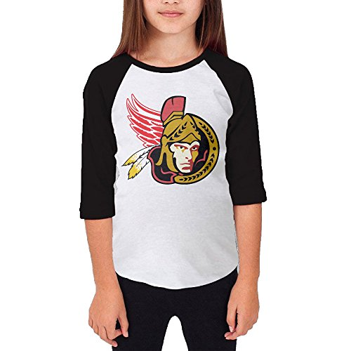 Hotboy19 Youth Girls Ottawa Detroit Washington Sport Mixed Raglan Baseball T Shirt Black Size XL (Super Bowl 46 Blu Ray compare prices)