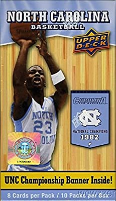 2010/11 Upper Deck UNC North Carolina Exclusive Factory Sealed Box with Michael Jordan UNC Cards