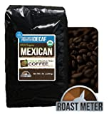 Organic Mexican Swiss Water Processed Decaf Coffee, 5 Lb. Bag, Whole Bean SWP Coffee, Fresh Roasted Coffee LLC.