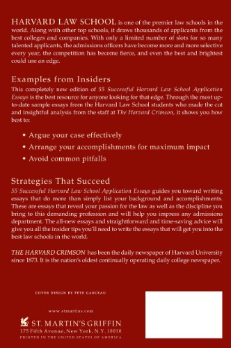 50 Successful Harvard Application Essays Second Edition