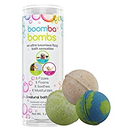 Health & Therapeutic Collection Luxurious Bath Bomb Gift Set Of 3 Health & Therapeutic Collection Boomba Bath Bombs - 3 Bath Bomb Fizzies Per Bath Bomb Kit