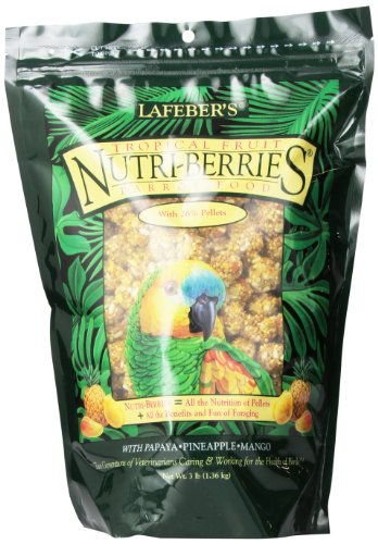 Lafeber Company Tropical Fruit Nutri-Berries for Parrots, 3-Pound
