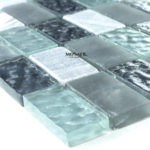 mosaik glas fliesen weiss gr n t rkis mix. Black Bedroom Furniture Sets. Home Design Ideas