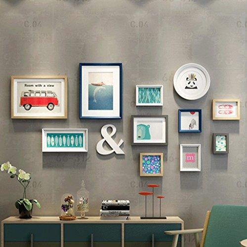 Massivholzrahmen Wand Fotowand Wohnzimmer modernen minimalistischen Schlafzimmer Wand Fotorahmen Wand kreative Kombination