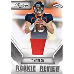 Tim Tebow 2011 Panini Prestige Rookie Review Authentic Event Worn Jersey (Orange... by The Strictly Mint Card Co.