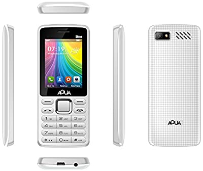 Aqua Shine - 2100 mAh Battery - Dual SIM Basic Mobile Phone - White