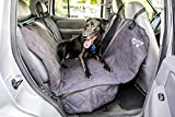 Quilted Premium Deluxe Suede Velvety Feel Seat Cover for Dogs, Cats or Other Beloved Pets - Waterproof Non-Slip Protection for the Back Seat of your Car, Truck, Minivan or SUV by 2PET - Ebony Black