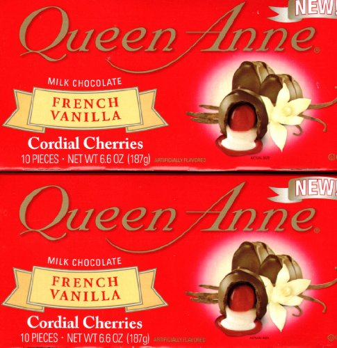 NEW Queen Anne Milk Chocolate French Vanilla Cordial Cherries (2 Pack of 10) 20 Piece Total