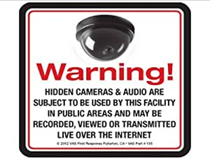 2  VAS #135 HIDDEN SPY MINI DOME  CAMERA DECALS - MAKE THEM THIINK YOU HAVE THEM EVEN IF YOU DON'T