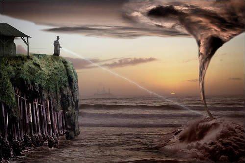Poster 90 x 60 cm: He who sows the wind 1 di Meinolf Lipka - stampa artistica professionale, nuovo poster artistico