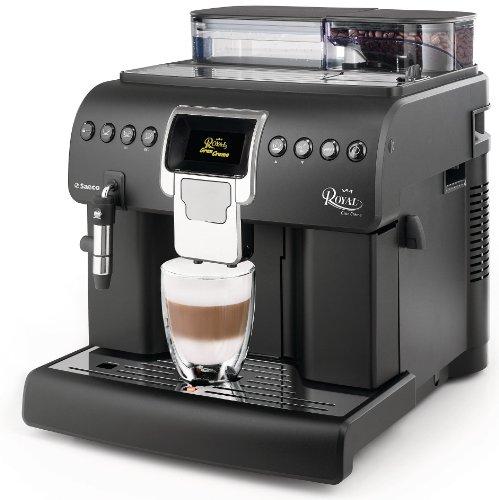 Saeco HD8920/01 Kaffee-Vollautomat Royal Gran Crema (Cappuccinatore, Memo-Funktion, Tassenwärmer, große Kapazitäten, 1.400 W) matt-schwarz thumbnail