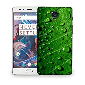Snoogg Dew drops Designer Protective Back Case Cover For OnePlus 3