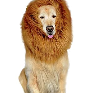 Pet Dog Lion Wigs Mane Hair Party Fancy