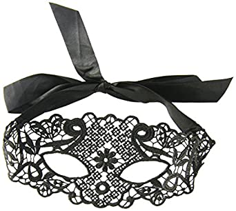 Seven Til Midnight Women's Galloon Lace Eye Mask, Black, One Size