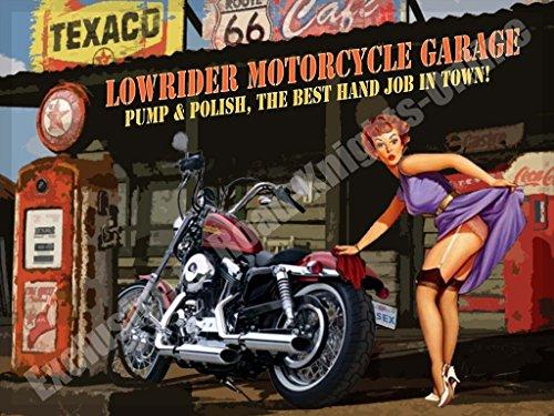lowrider-moto-garage-harley-davidson-chopper-pompa-lucido-metallo-vintage-insegna-in-acciaio-20-x-30