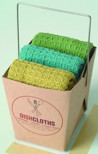 Now Designs Set of 3 Waffle Weave Dish Cloths,