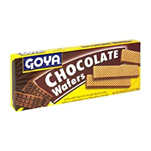 Goya Wafer Chocolate Cookies, 5.6-Ounce Units (Pack of 30)