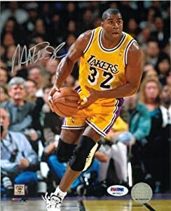 Magic Johnson Autographed Hand Signed Los Angeles Lakers 8X10 Photo- PSA Hologram by Hall+of+Fame+Memorabilia