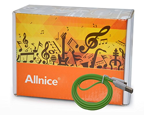 Allnice® Hot Led Light Up (1M) 3Ft Solid One Light Color Tangle Free Micro Usb Pin Charging Data Sync Cable For All Android Smart Phones Galaxy S2 S3 S4, Htc One X, Lg, Samsung Galaxy Note 2, Note 3, Sony Experia, Nokia Lumia, Lg Optimus, Casio, Blackberr