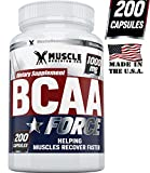 5173ULgXT2L. SL160  BCAA Force   Premium Branched Chain Amino Acids Capsules. Fast Working Muscle Recovery Formula, Helps to Build Lean Mass and Lose Weight. Natural USA Manufactured Contains L Leucine, L Isoleucine and L Valine. Guaranteed! Free Gift   Muscle Building Ebook Review