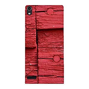 Cute Nailed Red Wood Designer Back Case Cover for Ascend P6