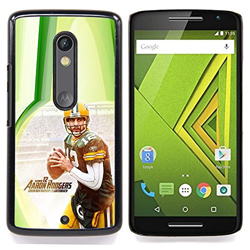 - Aaron Rodger 12 NFL - - Copertura della cassa impatto con Art Pattern Design FOR Motorola Verizon DROID MAXX 2 / Moto X Play Queen Pattern