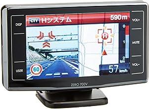 コムテック 3.2インチ液晶搭載 5colorLED警報通知 高感度GPSレーダー探知機 ZERO 700V
