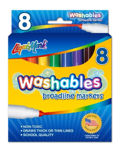 LIQUI-MARK Bold Washable Marker, Box of 8 - 1