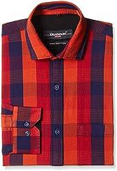 Dennison Men's Formal Shirt (SS-16-400_44_Blue)