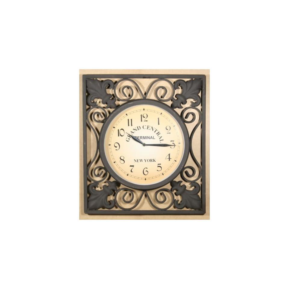 wanduhr grand central uhr antik metall schwarz aussen 25cm on popscreen. Black Bedroom Furniture Sets. Home Design Ideas