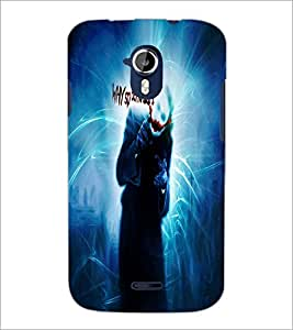 PrintDhaba Joker D-4383 Back Case Cover for MICROMAX A116 CANVAS HD (Multi-Coloured)