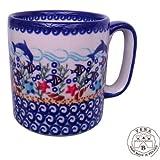 Classic Boleslawiec Pottery Hand Painted Ceramic Mug 0.4L Large 055-U-119