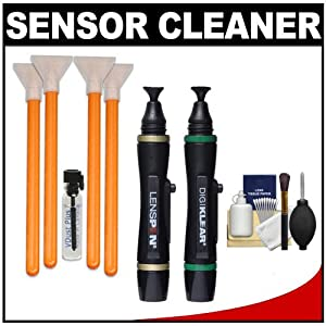 VisibleDust EZ Sensor Cleaning Kit for Size 1.3x Digital SLR & Olympus PEN/OM-D Micro Four Thirds Cameras with Lens Pen & DigiKlear + Cleaning Kit