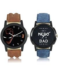 Krupa Enterprise LOREM Stylish Dummy Chronograph Analog Watch - For Men & Boys Pack Of 2