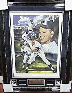 Whitey Ford HOF New York Yankees Autographed Framed Marino Litho PSA COA G 56066 -... by Sports Memorabilia
