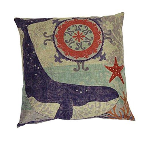 Hatop Sea Animal Pillow Case Sofa Waist Throw Cushion Cover Home Decor (B) (32 X 24 Pillow Insert compare prices)