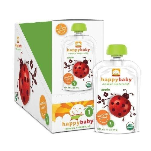 Happy Baby Organic Apple Baby Food, 3.5 Ounce -- 16 per case. - 1