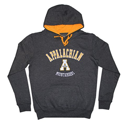 NCAA Youth APPALACHIAN STATE MOUNTAINEERS Athletic Pullover Hoodie M DarkGrey