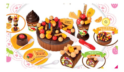Christmas Gift Cute Girls Play Toys 73 Kitchen Utensils Fruit Suit Birthday Cake back-309126